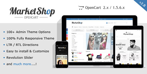 ThemeForest - MarketShop v2.8 - Multi-Purpose OpenCart Theme - 6913803