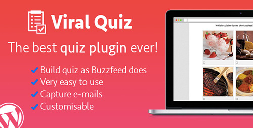 CodeCanyon - Wordpress Viral Quiz v2.04 - BuzzFeed Quiz Builder - 11178623