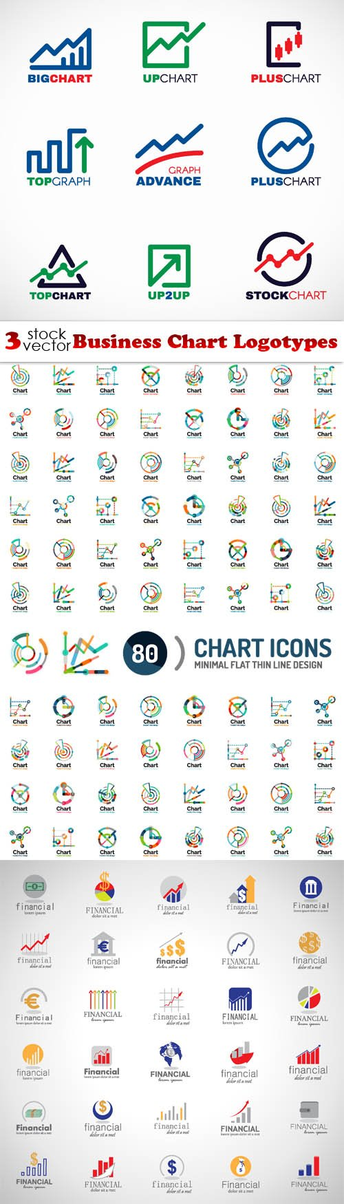 Vectors - Business Chart Logotypes