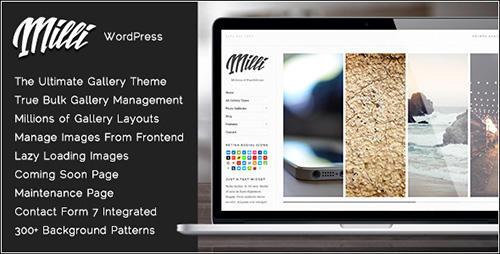 ThemeForest - Milli v1.0.7 - The Ultimate Photo Gallery WordPress Theme - 6638194