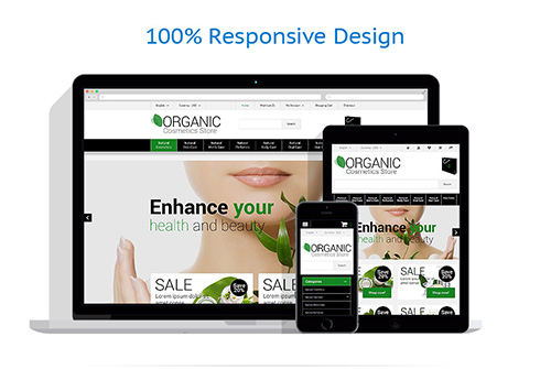 Organic Cosmetics Store - OpenCart 2.0.1.1 Template - TM 55466