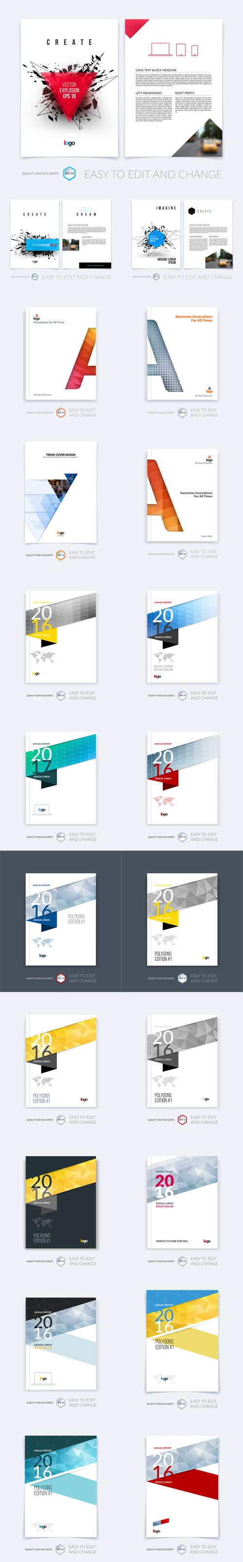 Vector Brochure Template Layout Cover Design Annual Report Magazine 2