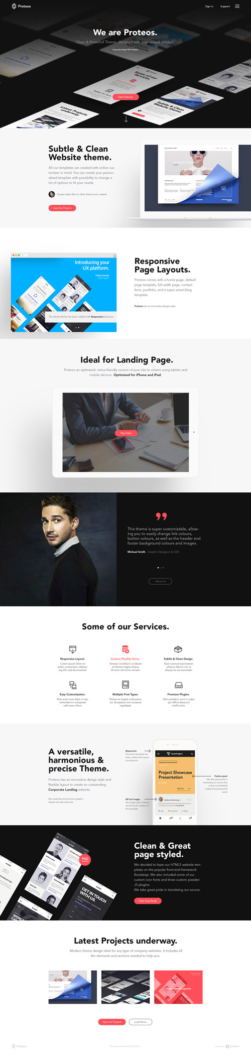 Proteos Corporate Website