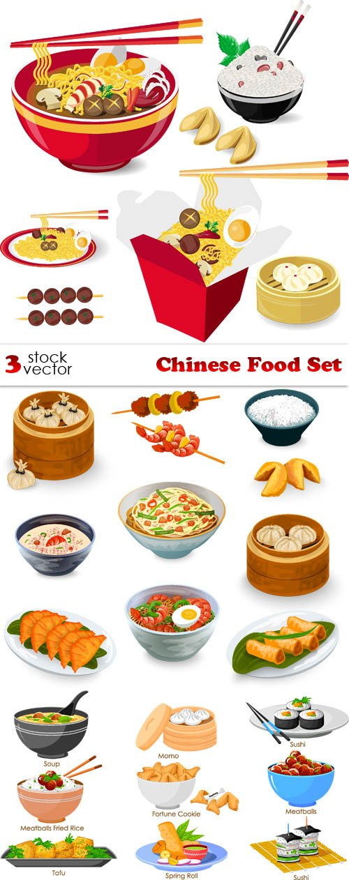 Vectors - Chinese Food Set