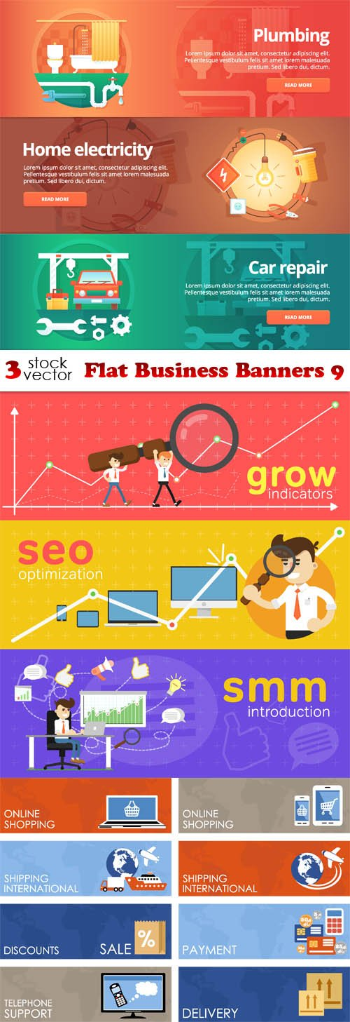 Vectors - Flat Business Banners 9