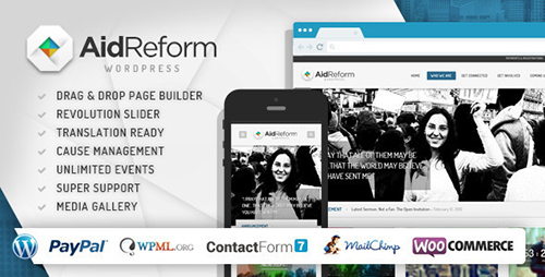 ThemeForest - Aid Reform v2.1 - NGO Donation and Charity Theme - 6546476