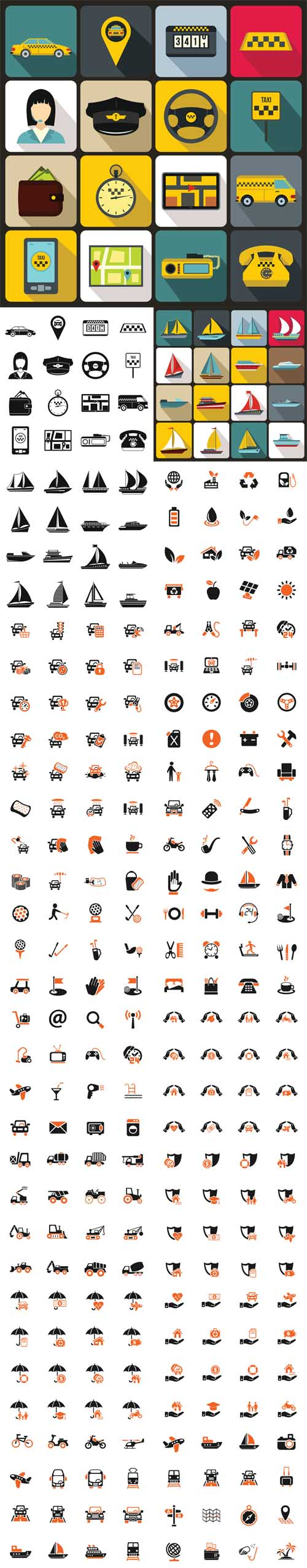 Vector Transport , Travel, Hotel, Industrial Icons