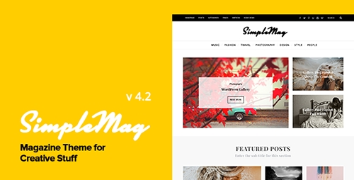 ThemeForest - SimpleMag v4.2 - Magazine theme for creative stuff - 4923427