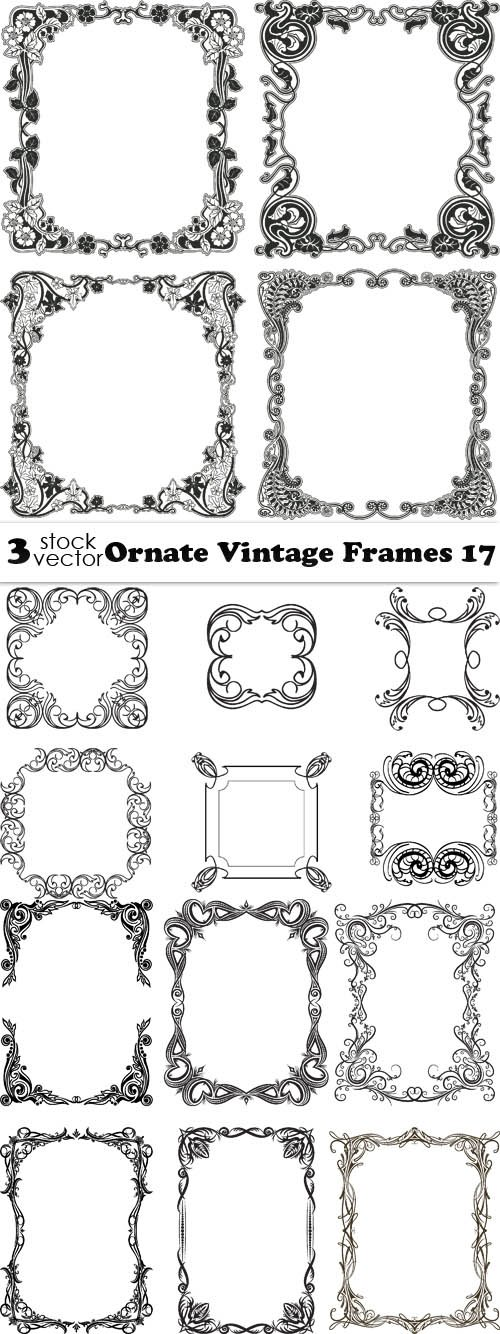 Vectors - Ornate Vintage Frames 17