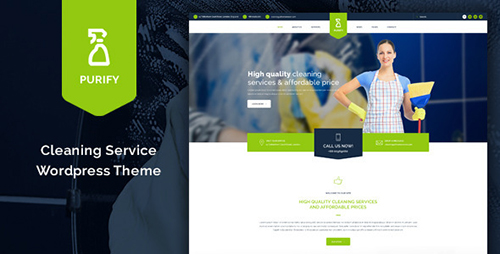 ThemeForest - Purify v1.11 - Cleaning Service WordPress Theme - 10981419