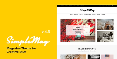 ThemeForest - SimpleMag v4.3 - Magazine theme for creative stuff - 4923427