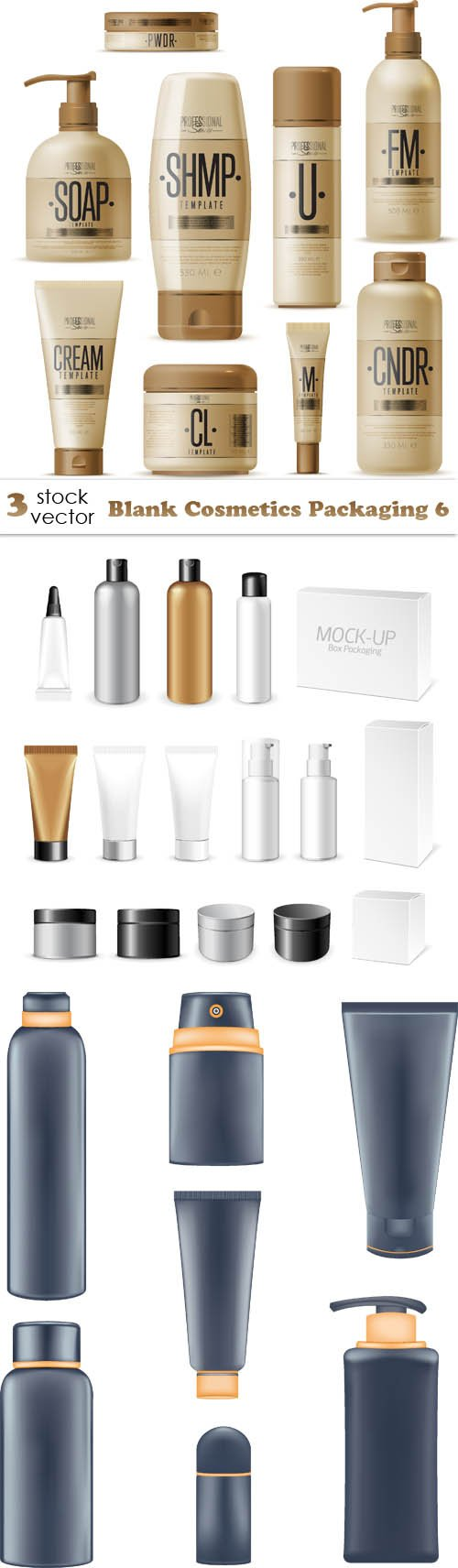 Vectors - Blank Cosmetics Packaging 6