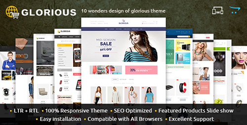 ThemeForest - Glorious - Opencart Responsive Theme (Update: 24 March 16) - 11094931