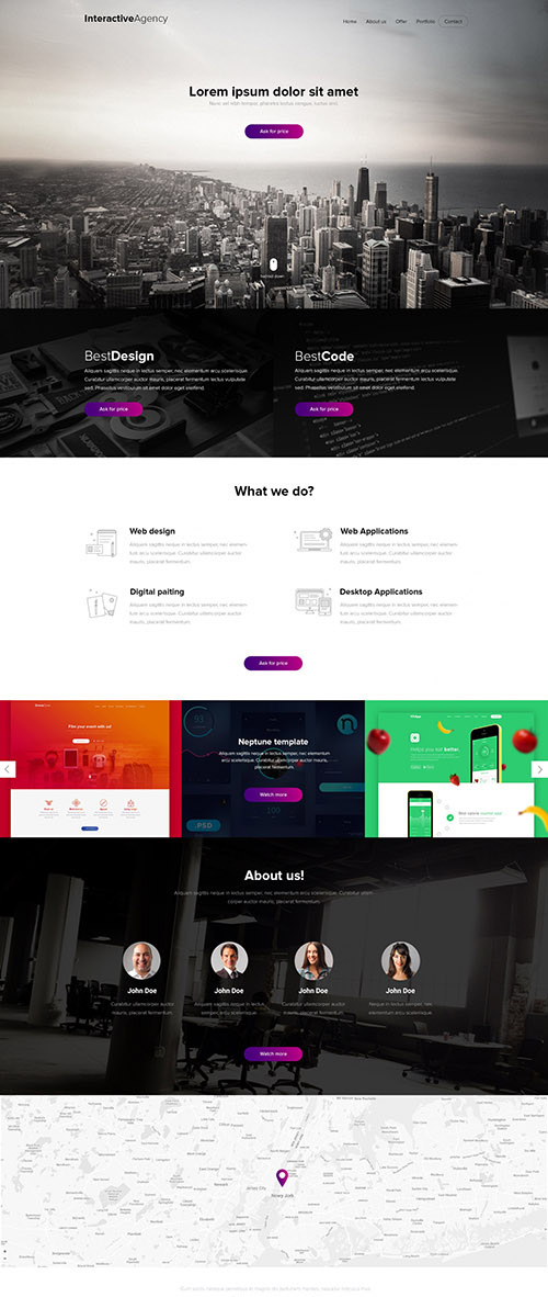 PSD Web Template - Interactive Agency