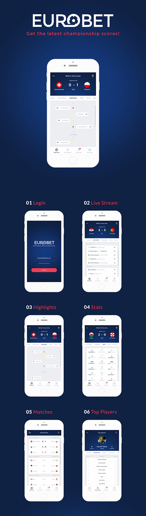 PSD Web Design - Eurobet Mobile App
