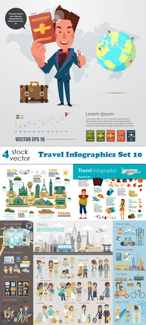 Vectors - Travel Infographics Set 10