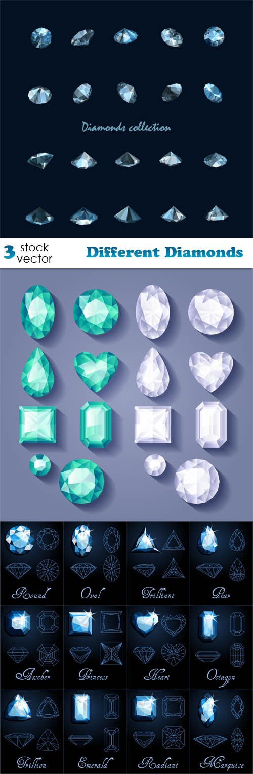 Vectors - Different Diamonds