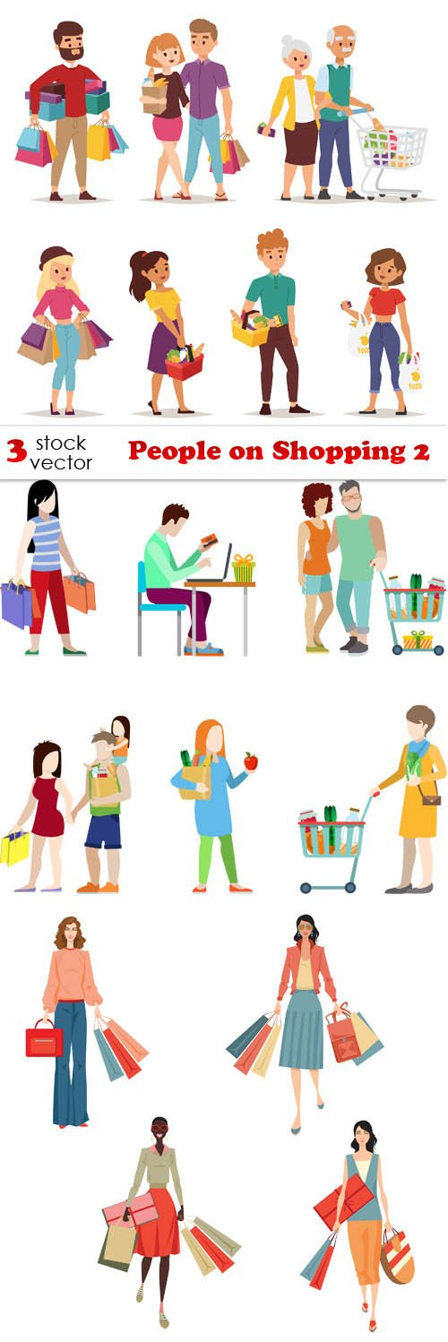 Vectors - People on Shopping 2