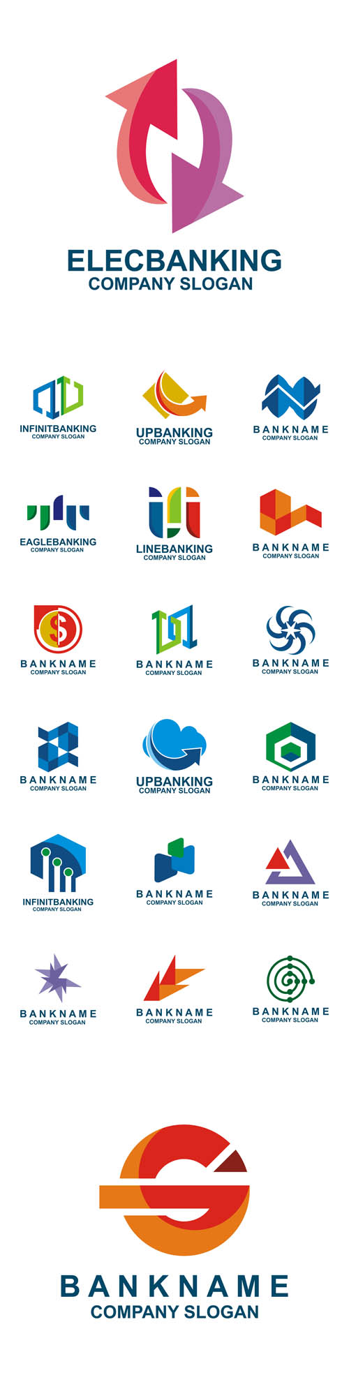 Vector Logo Design Banking Financial Business Icon