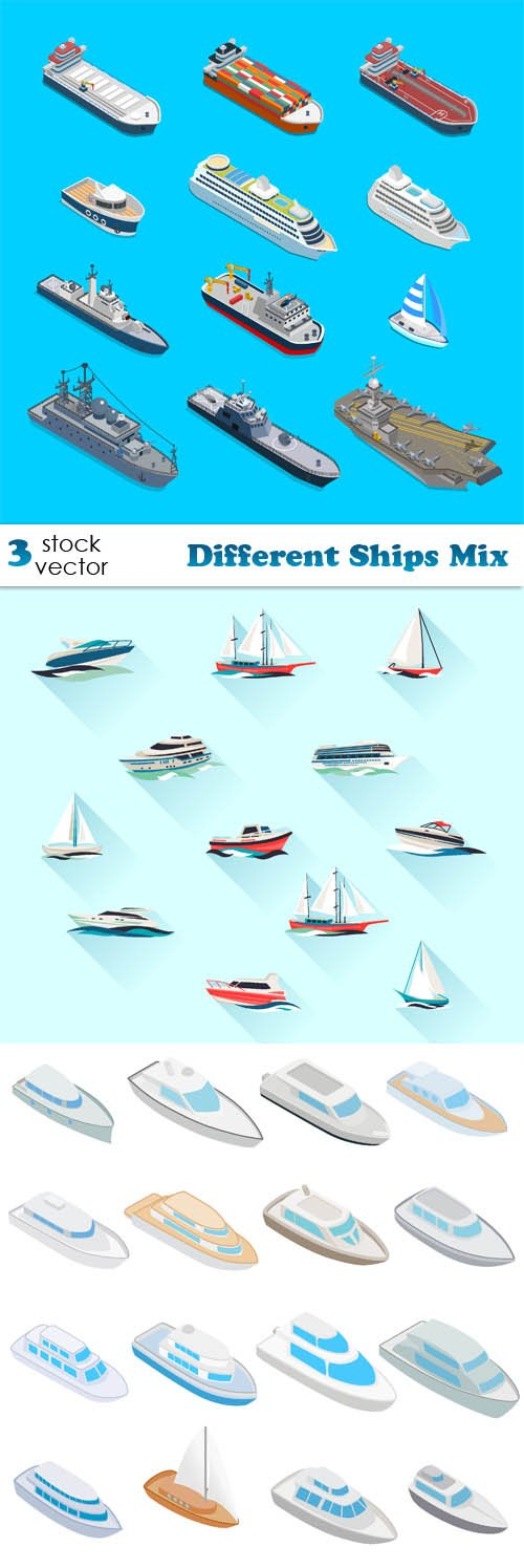 Vectors - Different Ships Mix