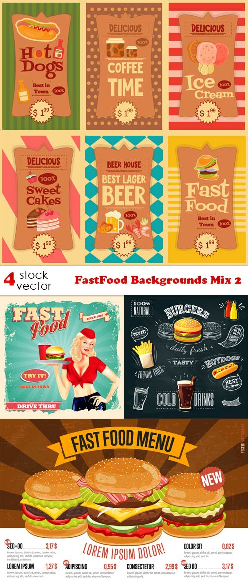 Vectors - FastFood Backgrounds Mix 2