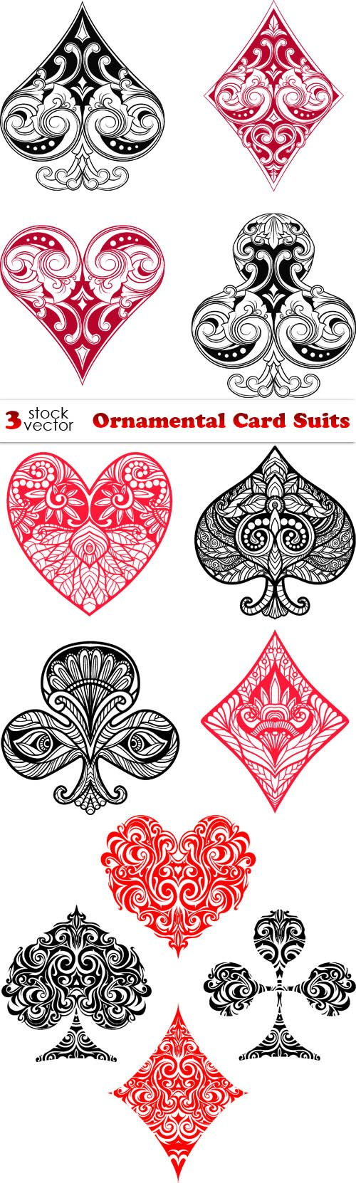 Vectors - Ornamental Card Suits