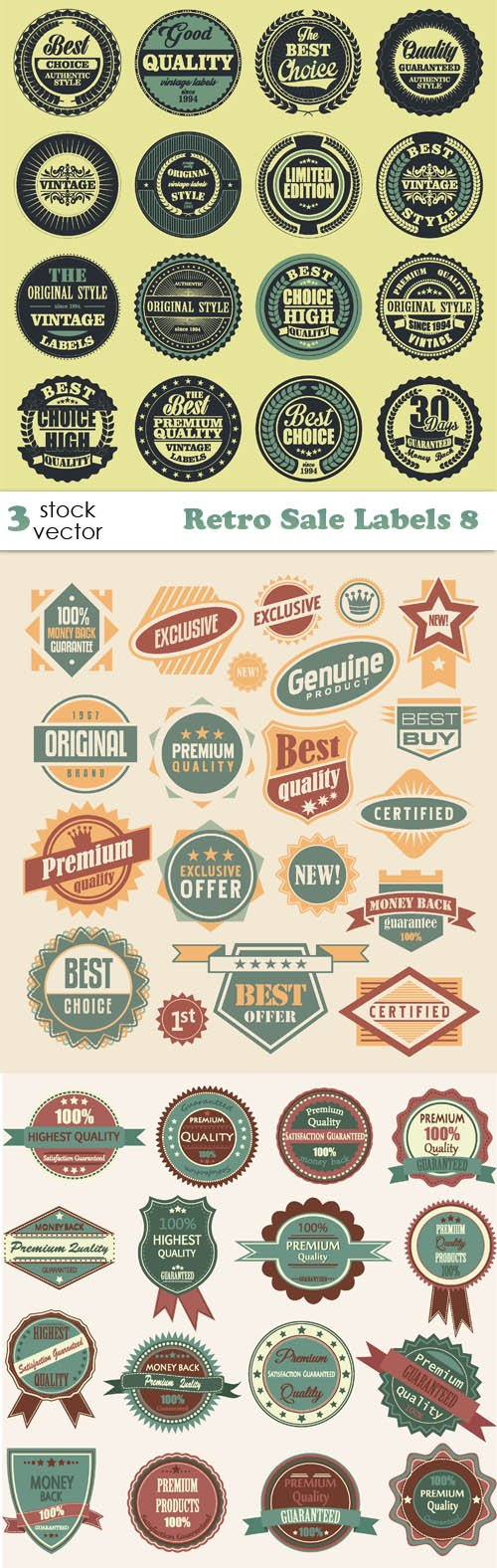 Vectors - Retro Sale Labels 8