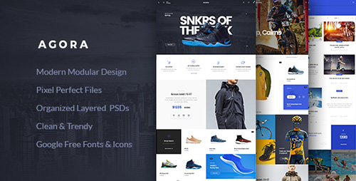 ThemeForest - Agora v1.0 - eCommerce PSD Template - 16064646