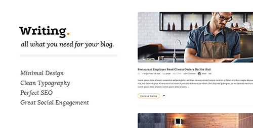 Beautiful  amp  Simple WordPress Themes for Writers        Colorlib Jevelin is a creative and sharp  pliable and responsive WordPress premium multipurpose website theme  Jevelin is an intuitive toolkit that simplifies the
