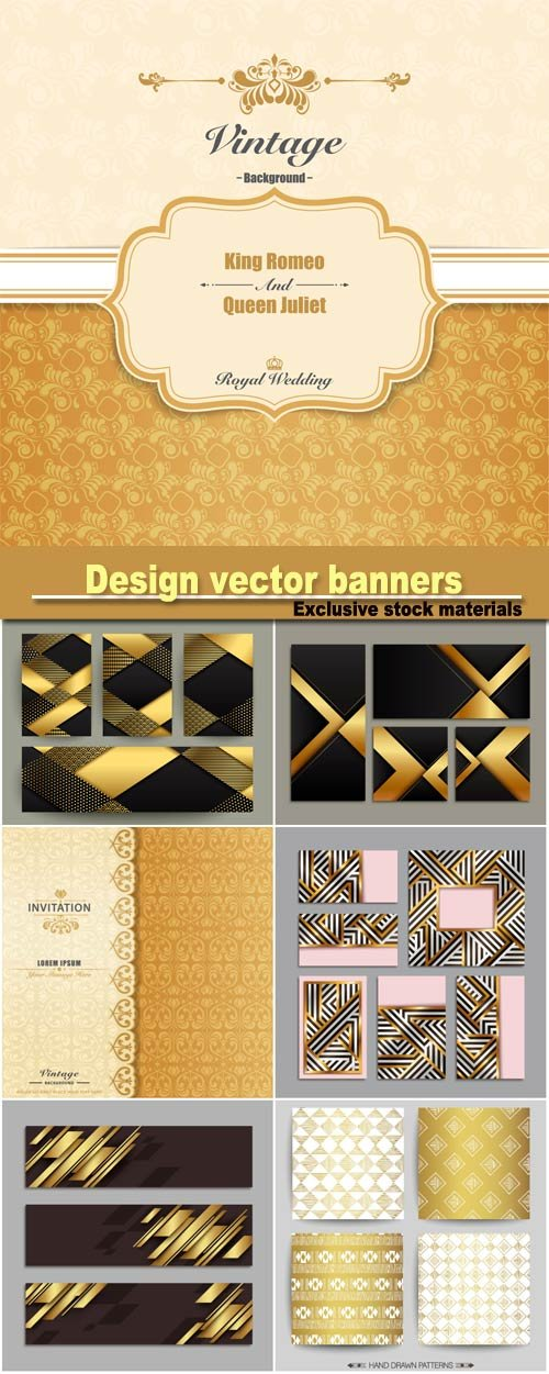 Design vector banners, vintage backgrounds vector