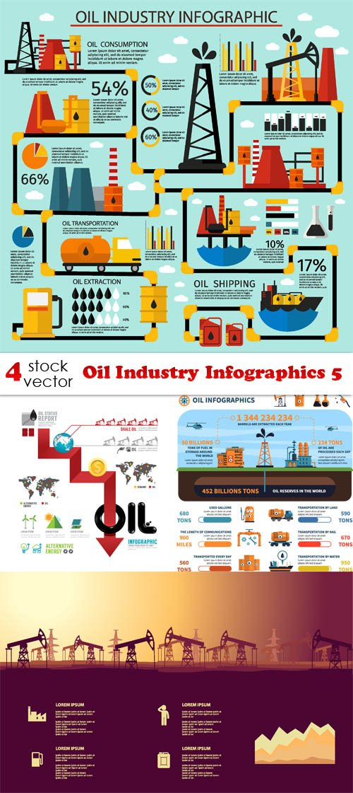 Vectors - Oil Industry Infographics 5