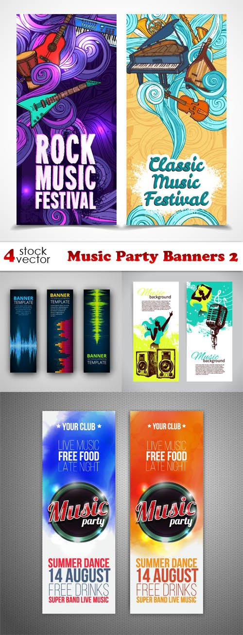Vectors - Music Party Banners 2