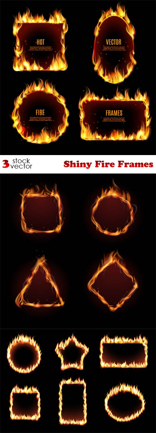Vectors - Shiny Fire Frames