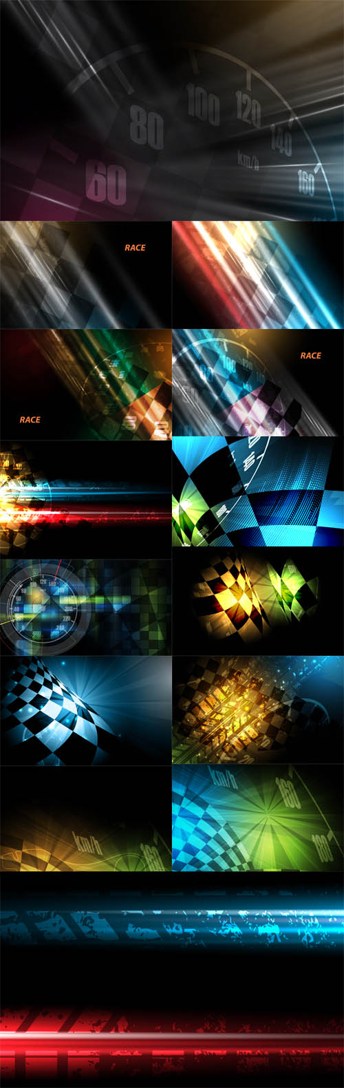 Vector Racing Square Backgrounds