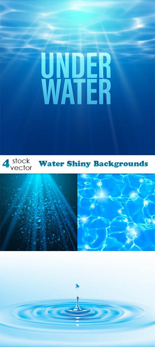 Vectors - Water Shiny Backgrounds