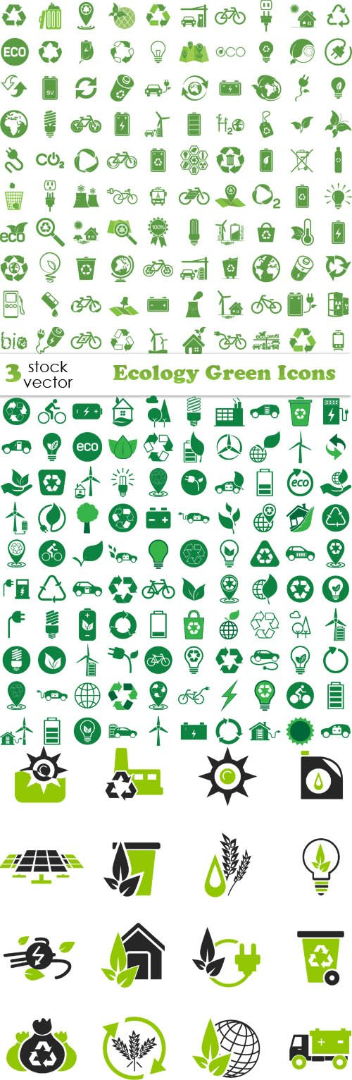 Vectors - Ecology Green Icons