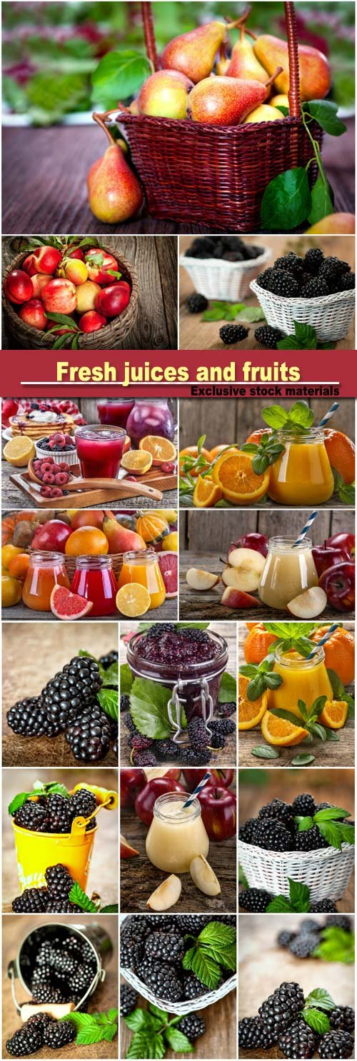 Fresh juices and fruits