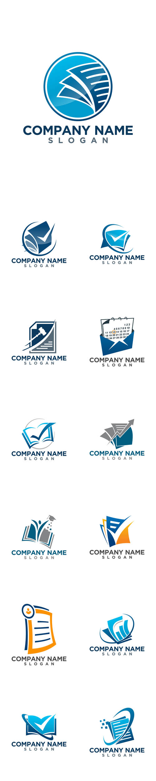 Vector Bookkeeping Logos