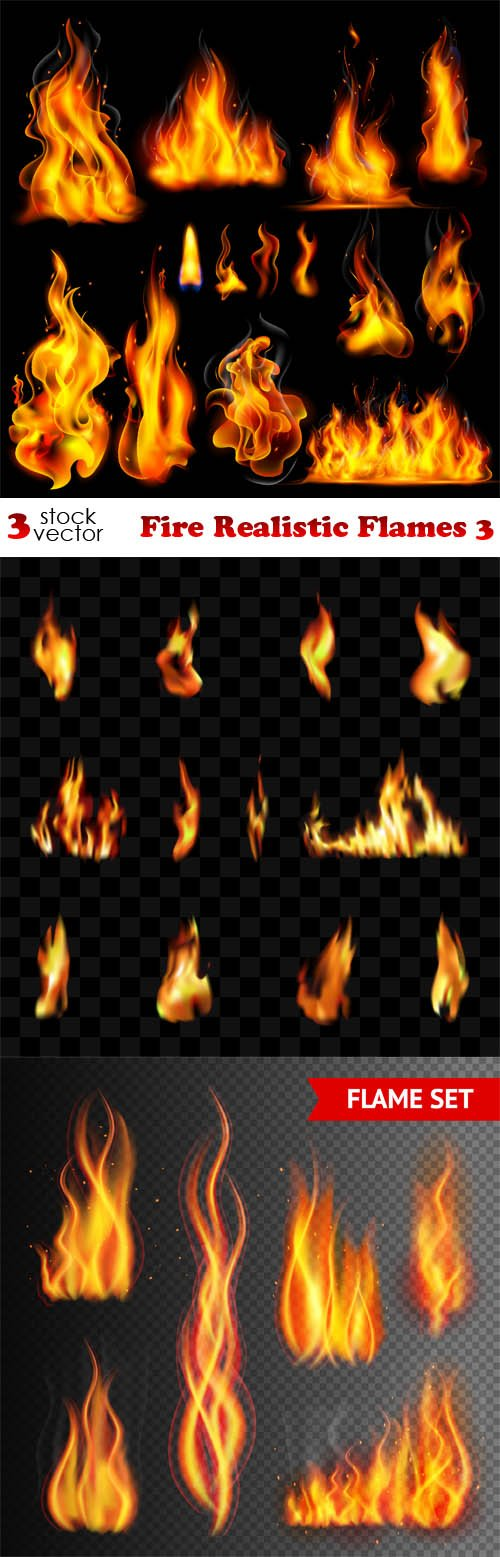 Vectors - Fire Realistic Flames 3