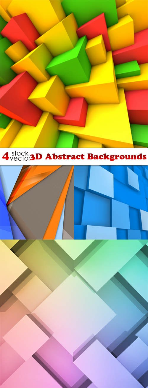 Vectors - 3D Abstract Backgrounds