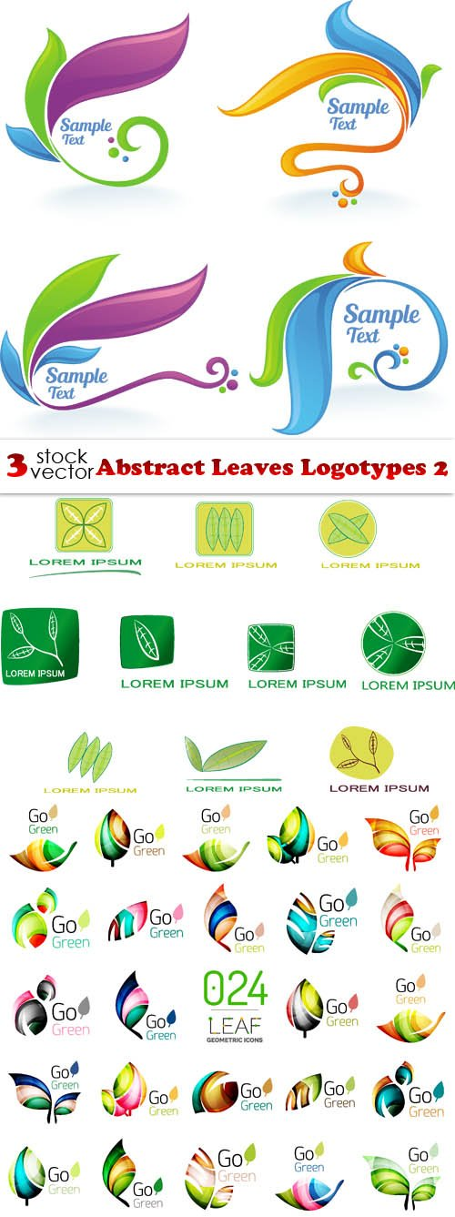 Vectors - Abstract Leaves Logotypes 2