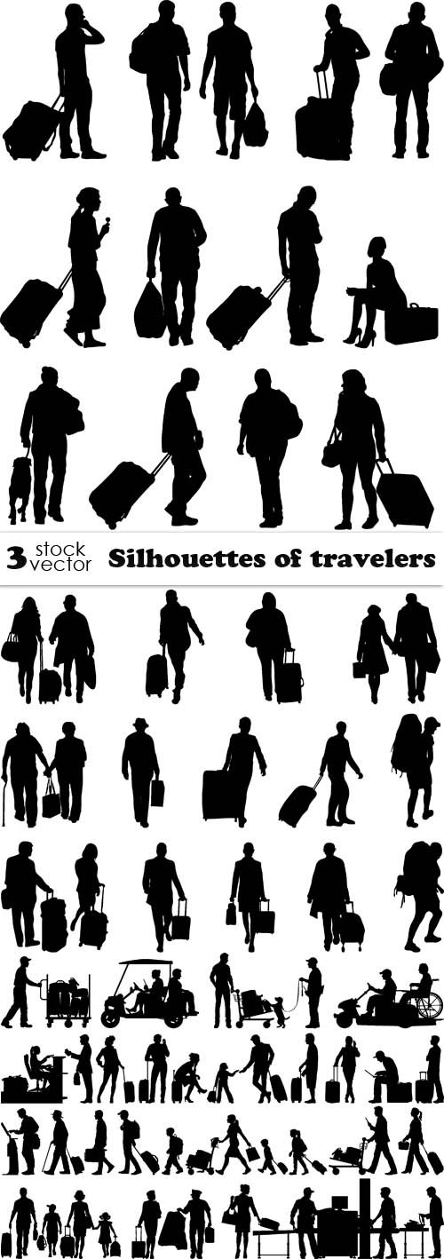 Vectors - Silhouettes of travelers