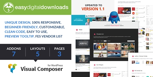 CodeCanyon - Easy Digital Downloads for Visual Composer v1.1.1 - 14408827