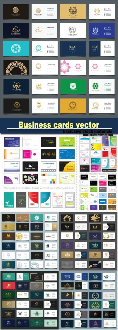 Business cards vector, business templates