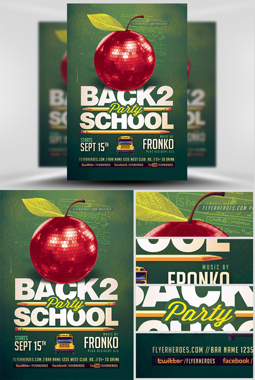 Flyer Template - Back To School Party 6