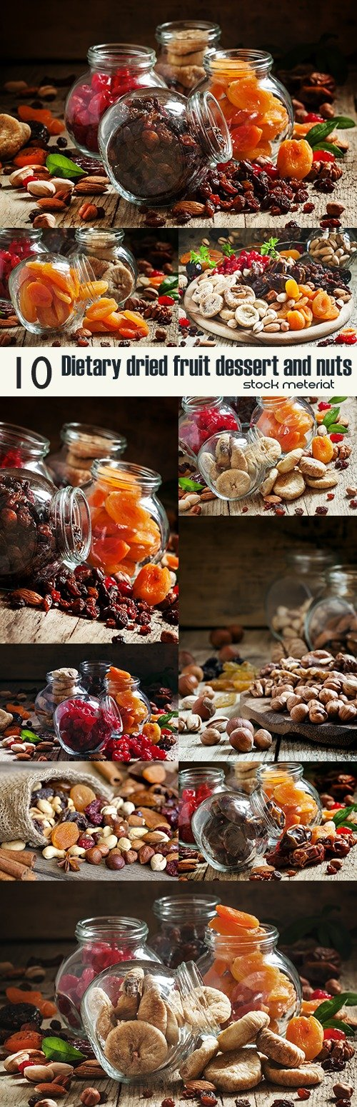 Dietary dried fruit dessert and nuts