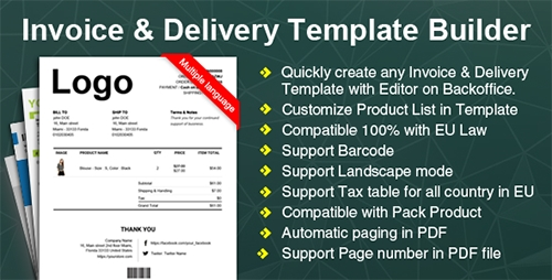 CodeCanyon - Woocommerce Invoice Delivery (Packing Slip) PDF Template Builder Plugin v1.0.0 - 17242839
