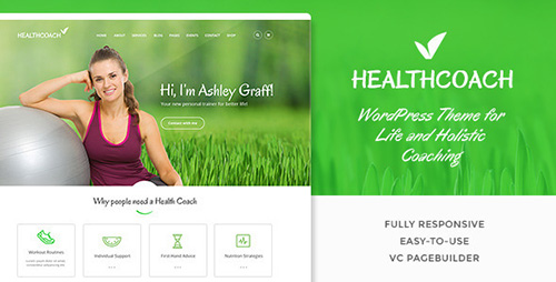 ThemeForest - Health Coach v1.2.2 - WP Theme for Building any Life Coach Website - 12851250