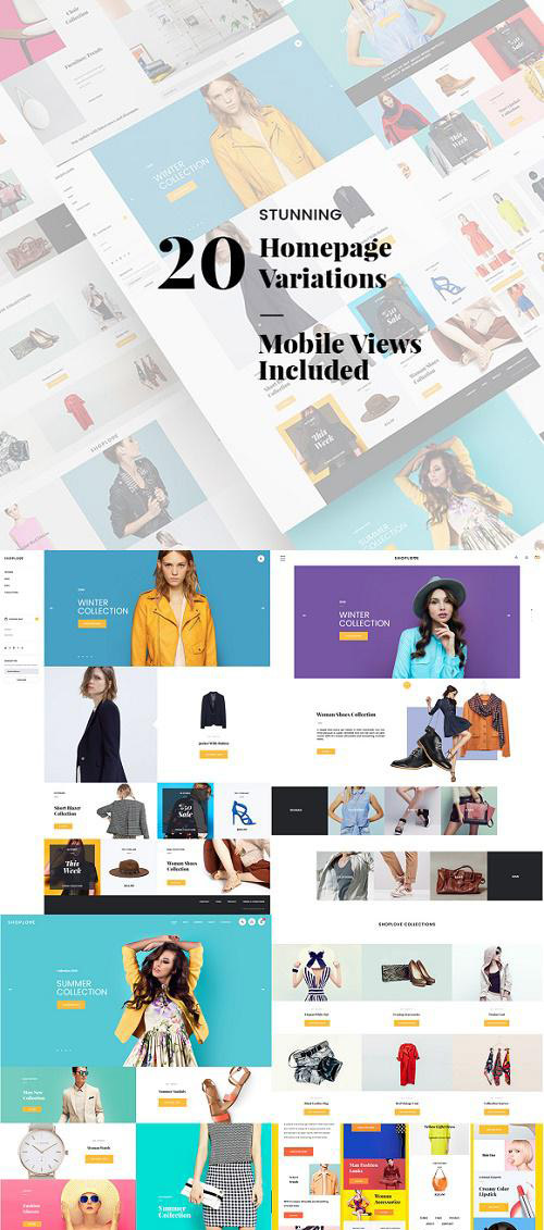 ShopLove E-commerce PSD Mobile Incl - 671390