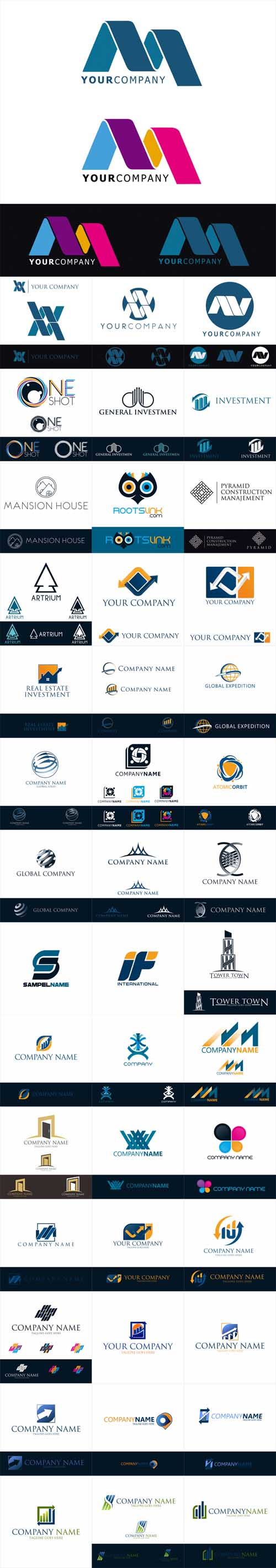 Vector Modern Business Inspiration Logos